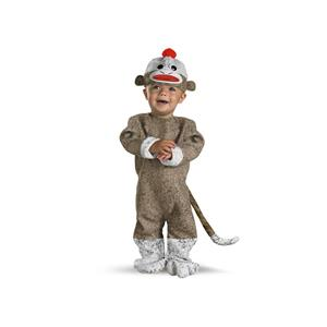 Sock Monkey Infant Costume Size 12-18 months
