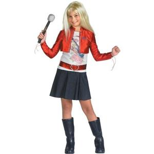 Hannah Montana Deluxe Child Costume with Wig Included Size Medium