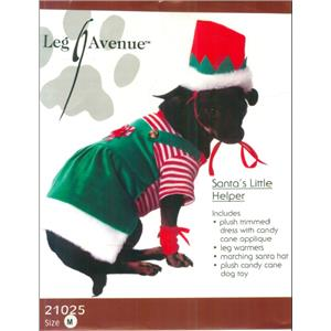 Santa's Little Helper Pet Costume Size Medium