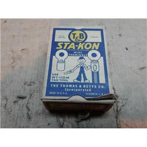 Thomas & Betts B14-6G Wire Terminals 20-14AWG STA-KON *BOX OF 100*
