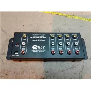 CE Labs AV400 Audio & Video Distribution Amplifier Four Output High Performance