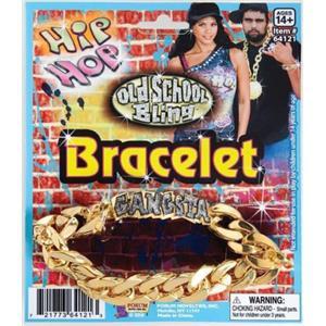 Gold Hip Hop Gangsta Id Bracelet Accessory
