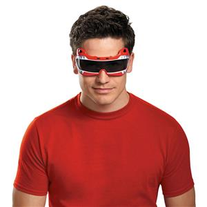 Disguise Men's Saban Mighty Morphin Red Ranger Costume Accessory Glasses