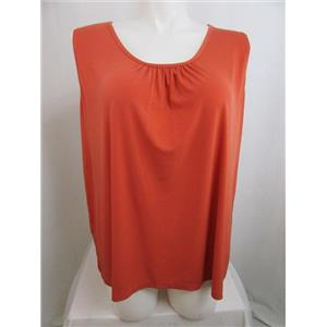 Susan Graver Size XS Bittersweet Liquid Knit Solid Tank with Feminine Shirring
