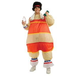 Men's 80's Workout Guy Inflatable Fat Suit Adult Costume