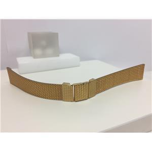 Seiko Original Watchband Bk Plate # 7430-5499.Discontinued Gold Tn Mesh Bracelet