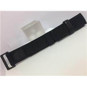 Luminox Watchband 3900 All Black NylonGrip 25mm Overall Width Fits 22mm Watches