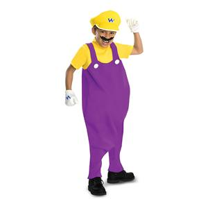Boys Deluxe Super Mario Wario Costume, Size Medium