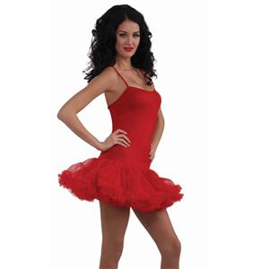 Red Petticoat Dress Adult Costume Size Standard