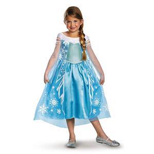 Girls Disney Frozen Elsa Deluxe Costume, X-Small/3T-4T