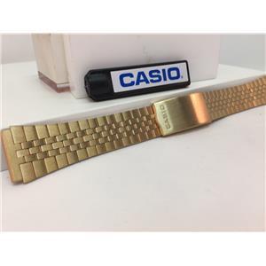 Casio Original WatchBand/Bracelet Number B-738N. Unknown Model 19mm Gold Tone