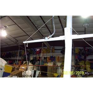 Boaters Resale Shop of TX 1705 2521.04 TEN FOOT TOP DECK MAST WITH SOME RIGGING