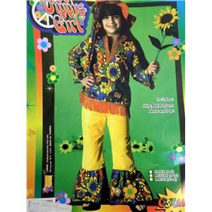 Hippie Dippie Girl's 60's 70's Child Costume Medium