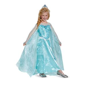 Frozen Elsa Prestige Child Blue Dress Costume, X-Small 3T-4T
