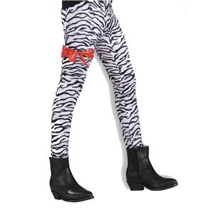 Unisex 80's To The Maxx Zebra Stretch Pants Costume Accessory