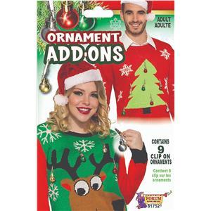 Forum Novelties Ugly Christmas Sweater Ass-Ons-Ornaments  Standard