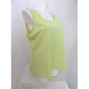 Studio By Denim & Co. Size 2X Soft Lime Scoop Neckline Knit Tank
