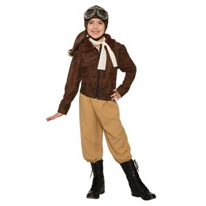 Forum Novelties Girls Amelia Earheart Historical Costume Small 4-6