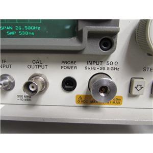 HP 8563E Spectrum Analyzer, 9kHz to 26.5GHz, 3.5mm connector