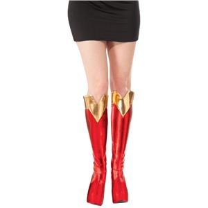 Women's DC Superheroes Supergirl Boot Tops Shoe Covers Costume Accessory