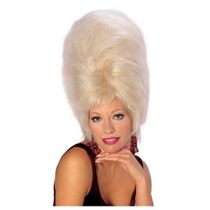 Retro 60's Really Big Hair Beehive Wig Blonde