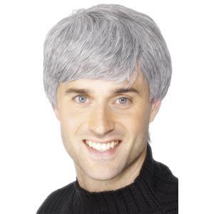 Smiffy's Men's Grey Corporate Modern Male Wig