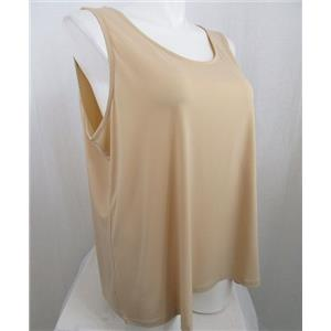 Susan Graver Essentials Size 2X Nude Liquid Knit Tank with Scoop Neckline