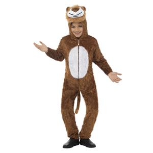 Lion Jumpsuit With Attached Hood Child Jungle Costume Small