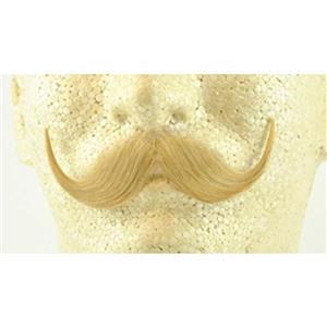 Blonde Real Human Hair Handlebar Mustache 2013