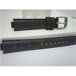 Pulsar WatchBand PJ2015 Ladies Dark Gray Leather Strap 8mm Wide 16mm at Shoulder