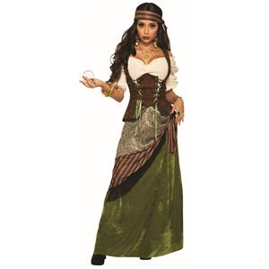 Celtic Fortune Teller Woman's Gypsy Costume for Adults