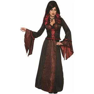 Crimson Countess Women's Vampire Hostess Dress Costume