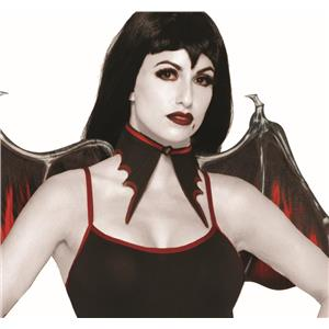 Vampire Red and Black Bat Collar Vampiress Choker
