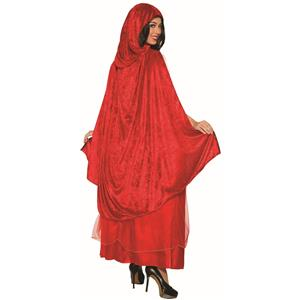 Classic Red Riding Hood Dress and Cape Adult Costume Standard Size 14-16