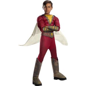 Shazam! Movie Childs Deluxe Superhero Costume Large
