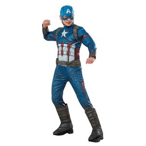 Avengers Captain America Marvel Super Hero Deluxe Costume Muscle Medium