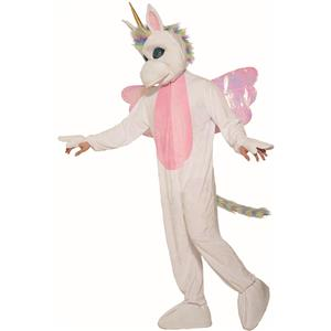Mythical Unicorn White Fantasy Mascot Costume for Adults