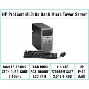 HP ProLiant ML310e Gen8 Tower + E3-1240 v2 Quad-Core Xeon 3.4GHz + 16GB RAM