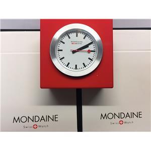 Mondaine Swiss Railways Mini Clock A660.30318.84 Red.Steel Case,Swiss Movement