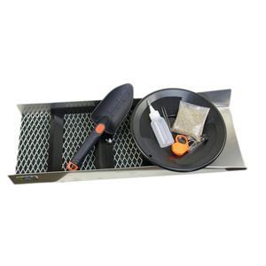 """Gold Rush Miners Special""Sluice Box 24""x10-Pay Dirt-Black Pan-8pc Mining Kit"