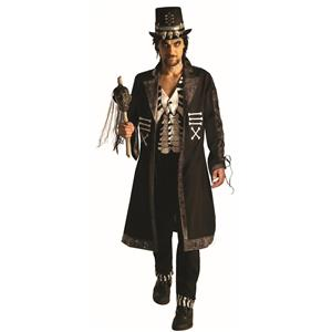 Sir Hex Gothic Voodoo Skeleton Coat Costume Adult Standard