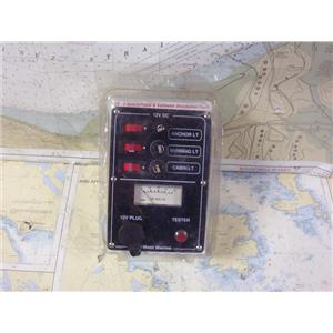 Boaters' Resale Shop of TX 1906 0742.11 WEST MARINE 12 VOLT-3 SWITCHED DC PANEL