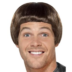 Brown Dumber 90s Bowl Cut Adult Wig