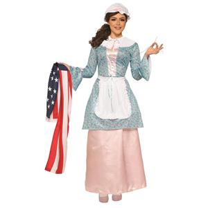 Betsy Ross Costume Founding Woman Adult Patriotic Attire X-Large
