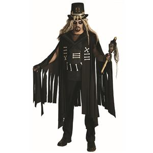 Black and White Voodoo Charmer King Gothic Costume Standard