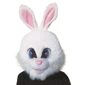 Large Plush Bunny Mascot Head White Mask
