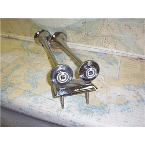 "Boaters' Resale Shop of TX 1906 2277.01 CHROME 20"" DUAL AIR HORN ASSEMBLY"