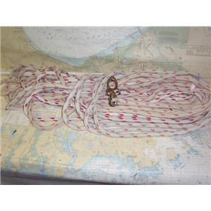 """Boaters' Resale Shop of TX 1801 1177.11 BRAIDED 145' OF 1/2"""" LINE & SNAP SHACKLE"""