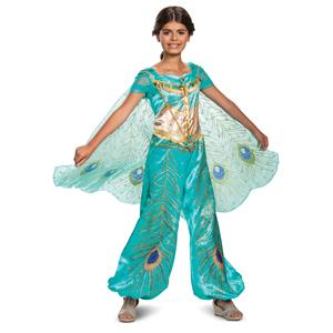 Jasmine Teal Aladdin Disney Princess Deluxe Child Girl Costume Medium 7-8