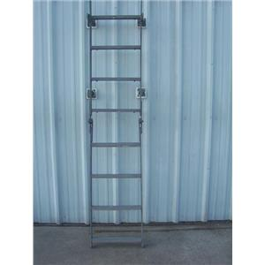 Boaters' Resale Shop of TX 1803 2775.02 GALVANIZED 8 STEP FOLDING BOARDIN LADDER
